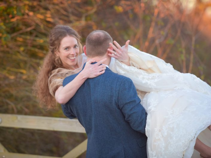 Winter wedding at Southend Barns, Chichester, Sussex - Sussex wedding photographer