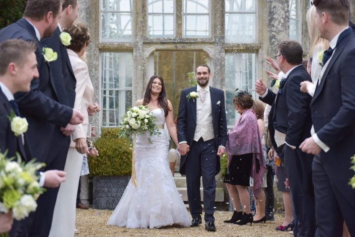 Justin and Kay enjoy their spectacular winter wedding at Wiston House
