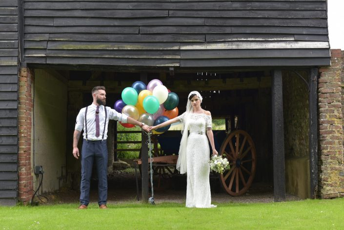 She flew her Irish family over to join in with some Brighton style at  Pangdean Barn