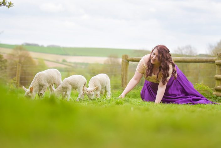 Rock The Frock with the newborn lambs down on Coombes Farm
