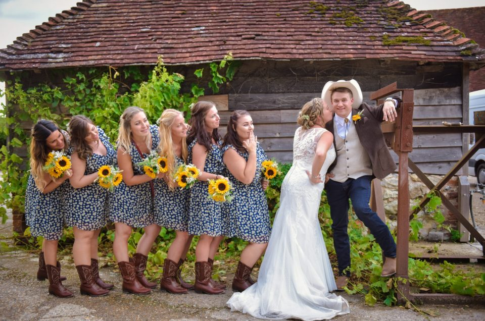 Wild West inspired wedding at Sullington Barn