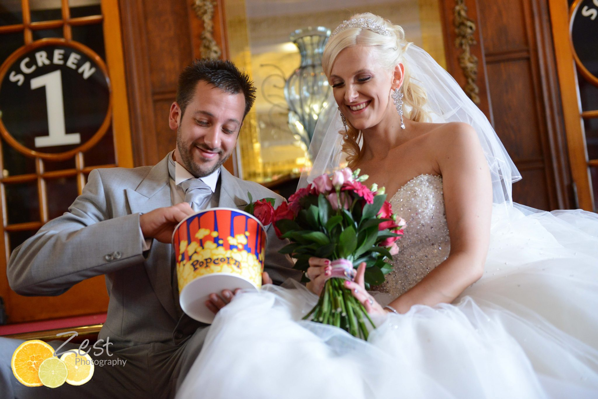 Quirky wedding photography at the dome