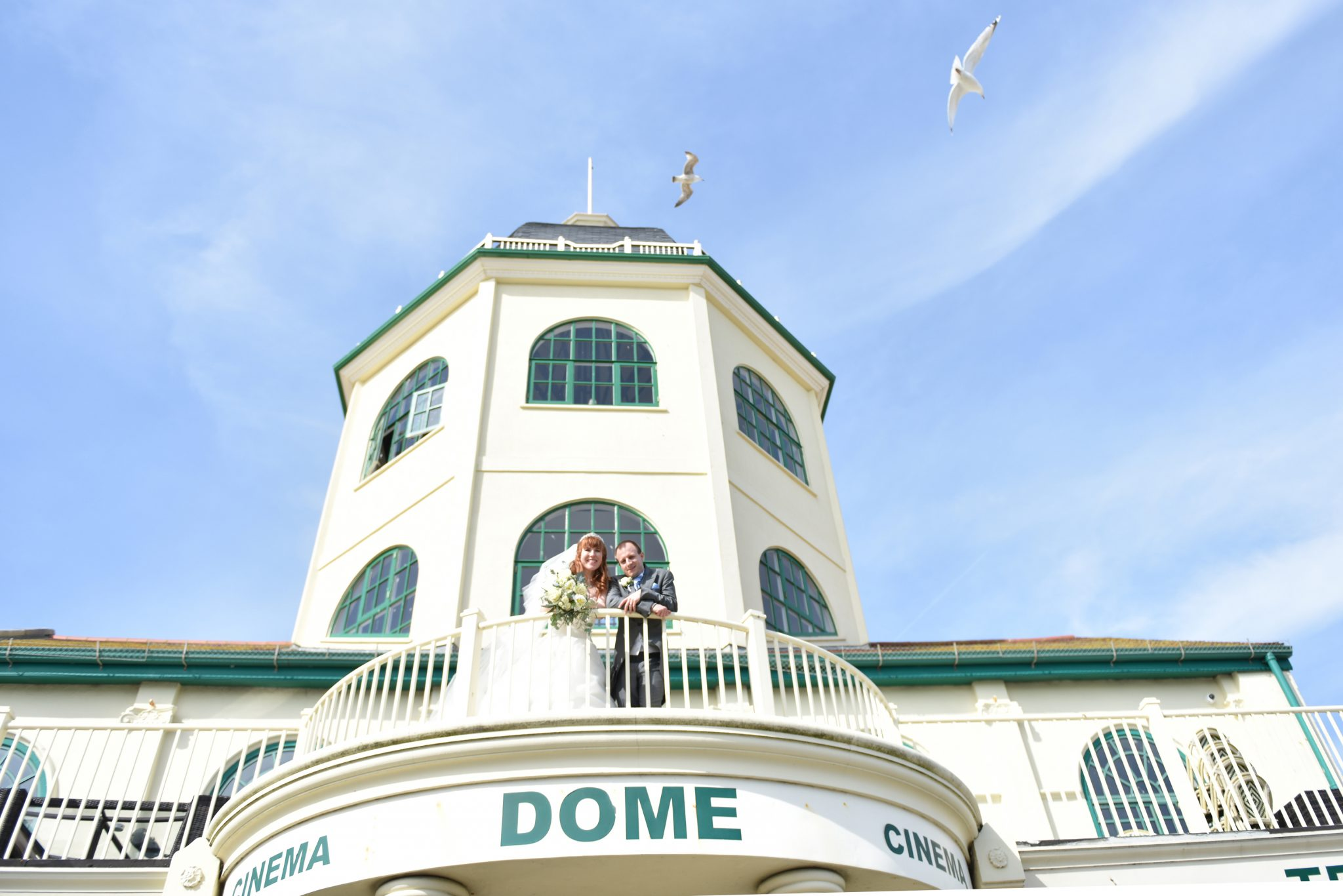wedding at the dome cinema by west sussex wedding photographer