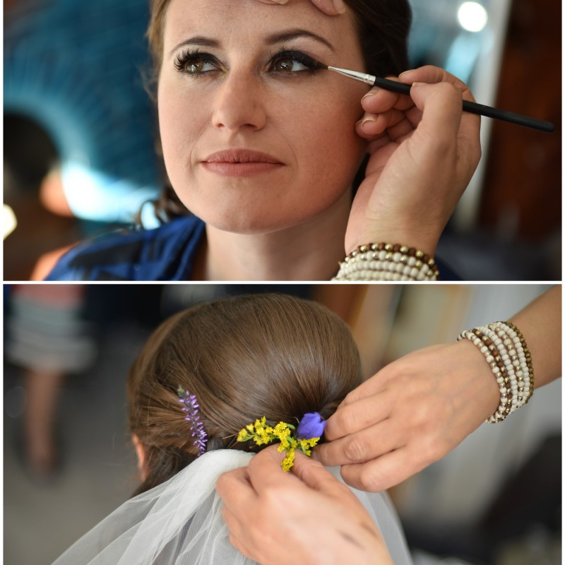 Bride hair and make-up