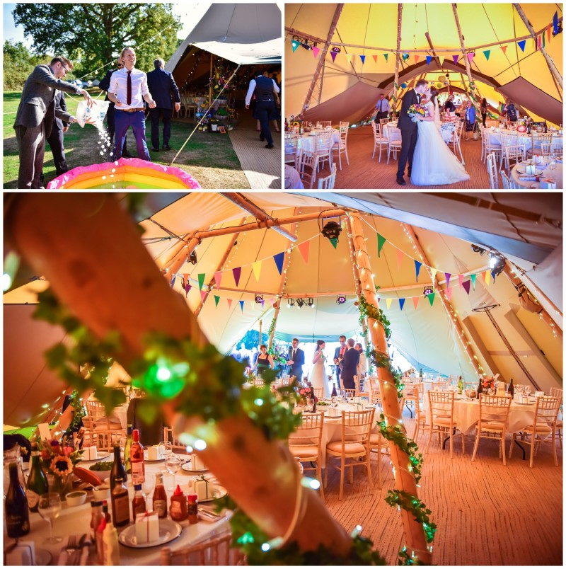 wedding party at the tipi