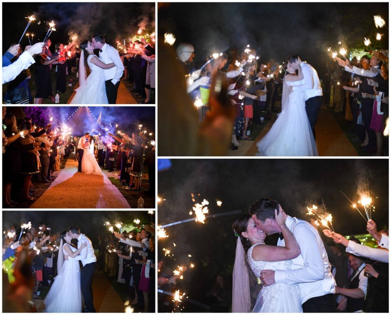 Sparklers at Wedding