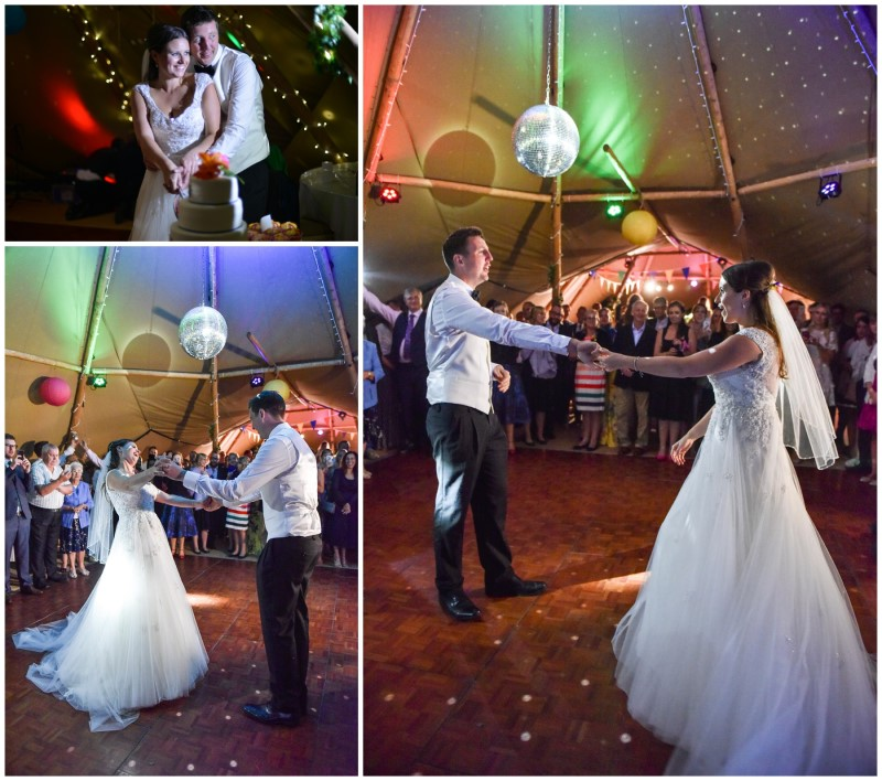 cake cutting and first dance