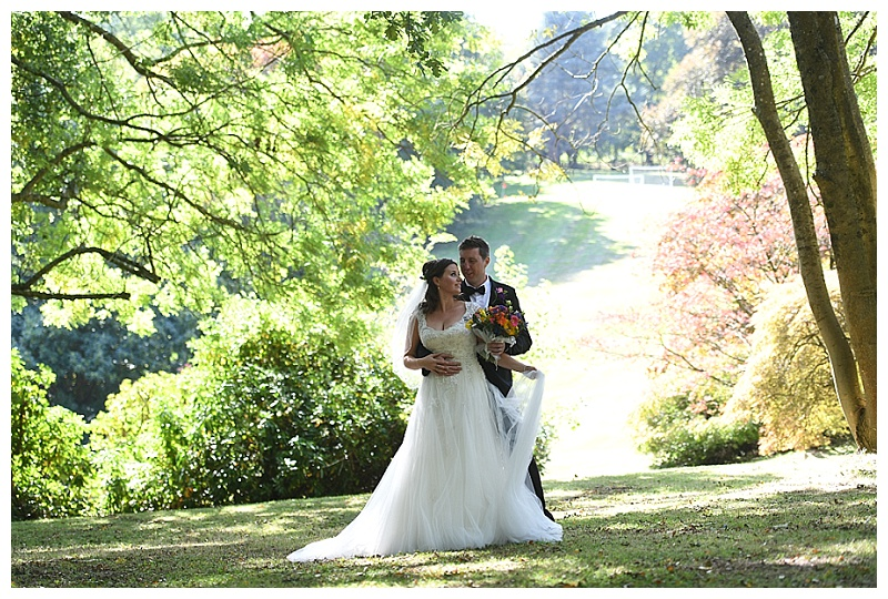 romance at beautiful wedding venue