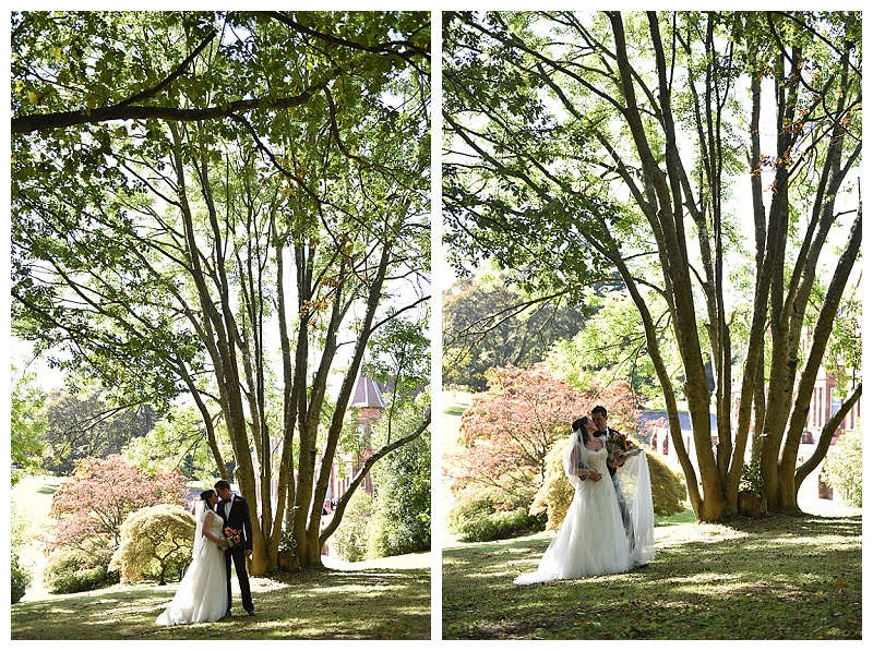 Husband and Wife under the trees
