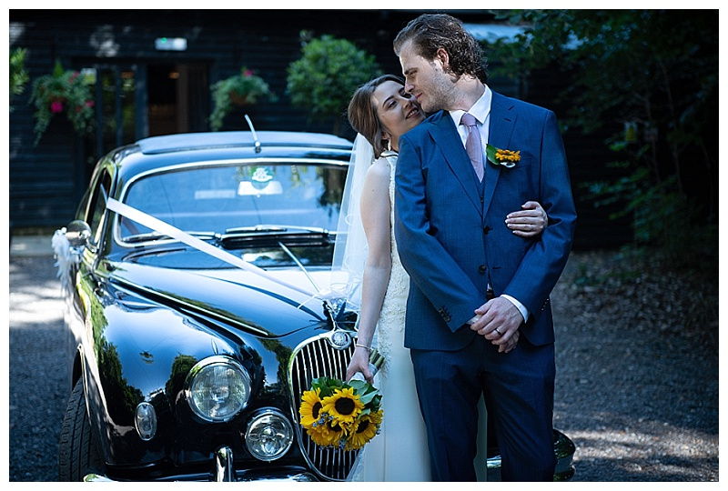 vintage wedding cars bride and groom romantic