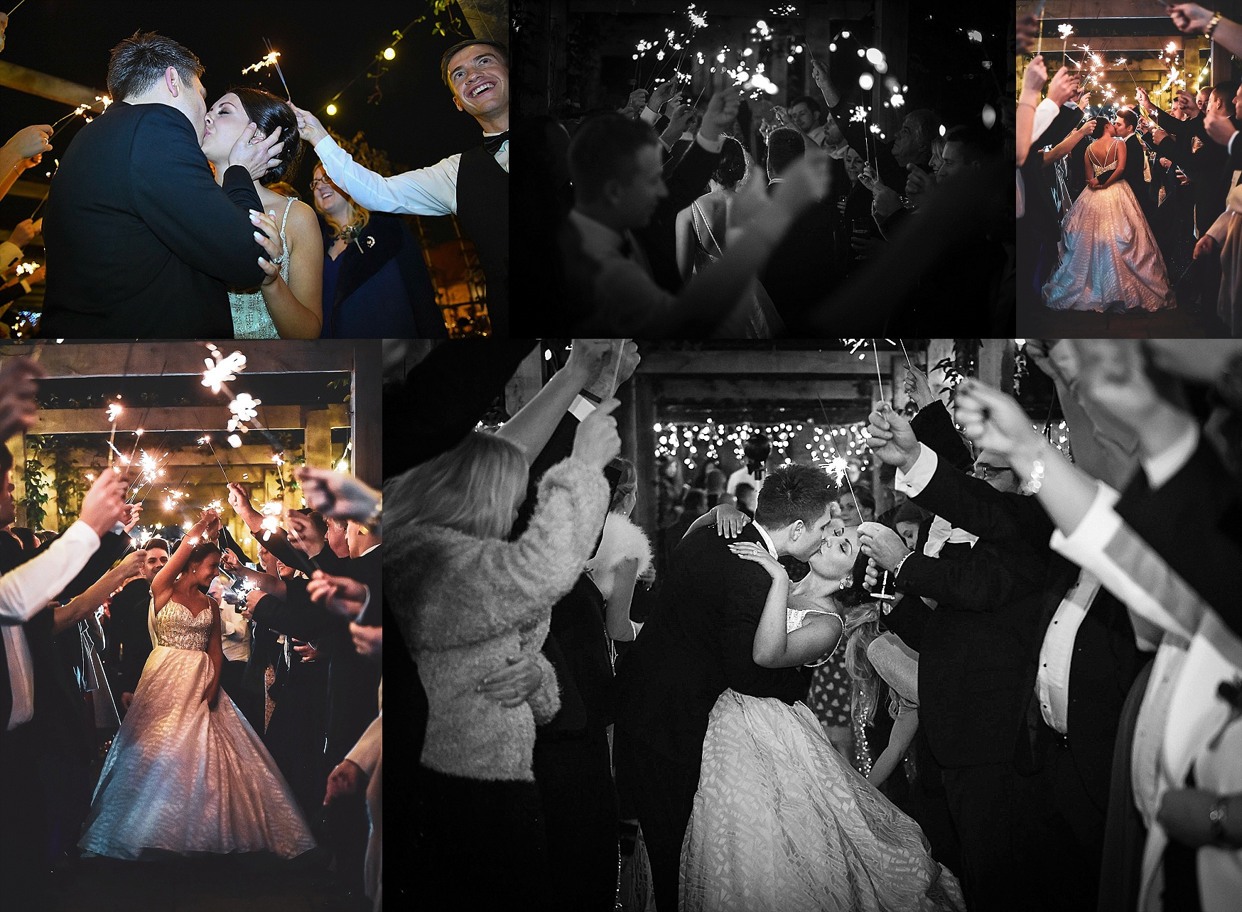 sparklers at a sussex wedding