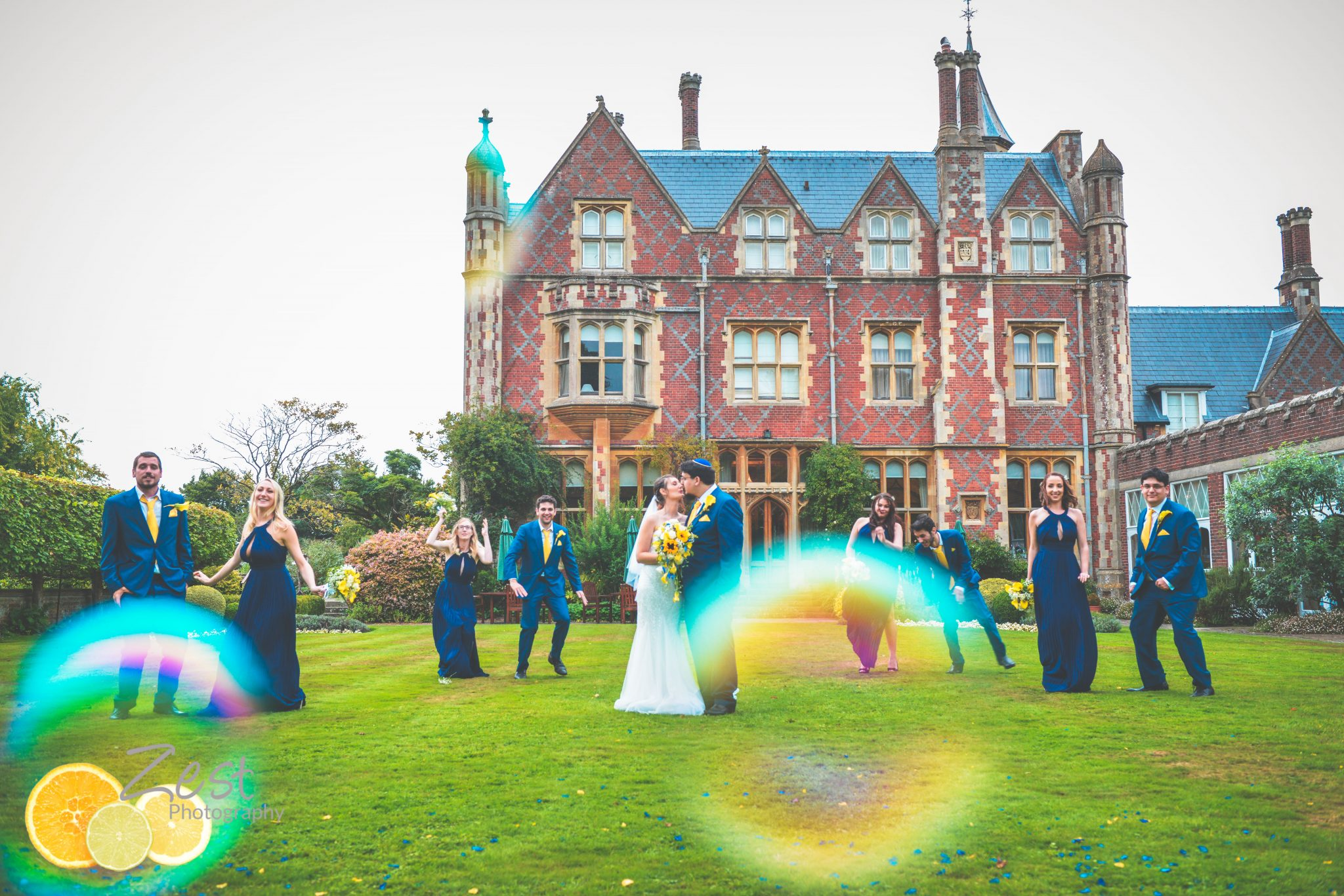 photography at a jewish wedding at horsted place, east usssex