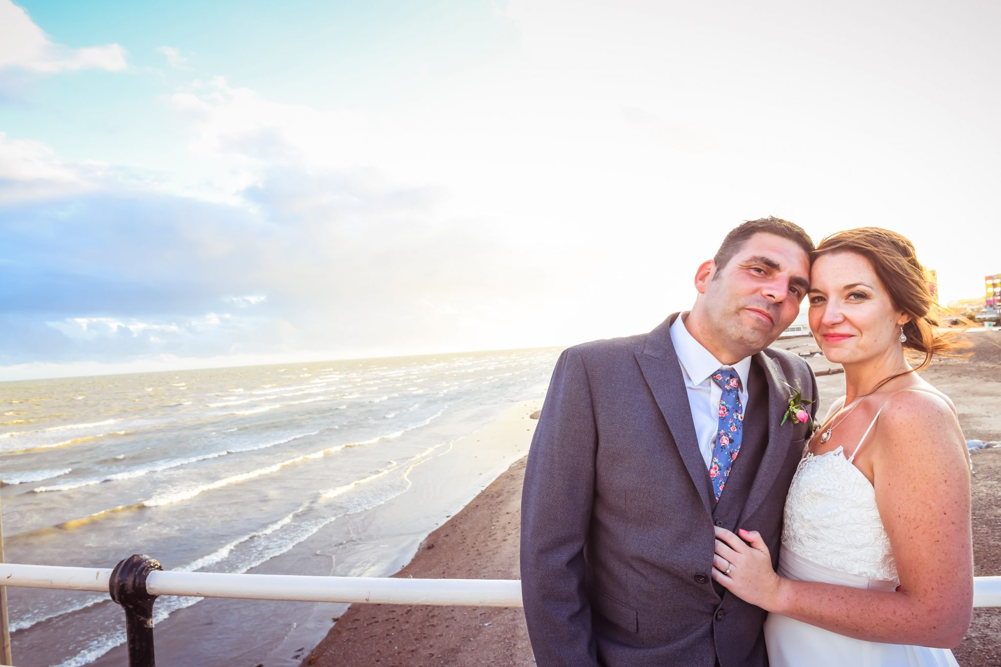 beach wedding by sussex wedding photographer