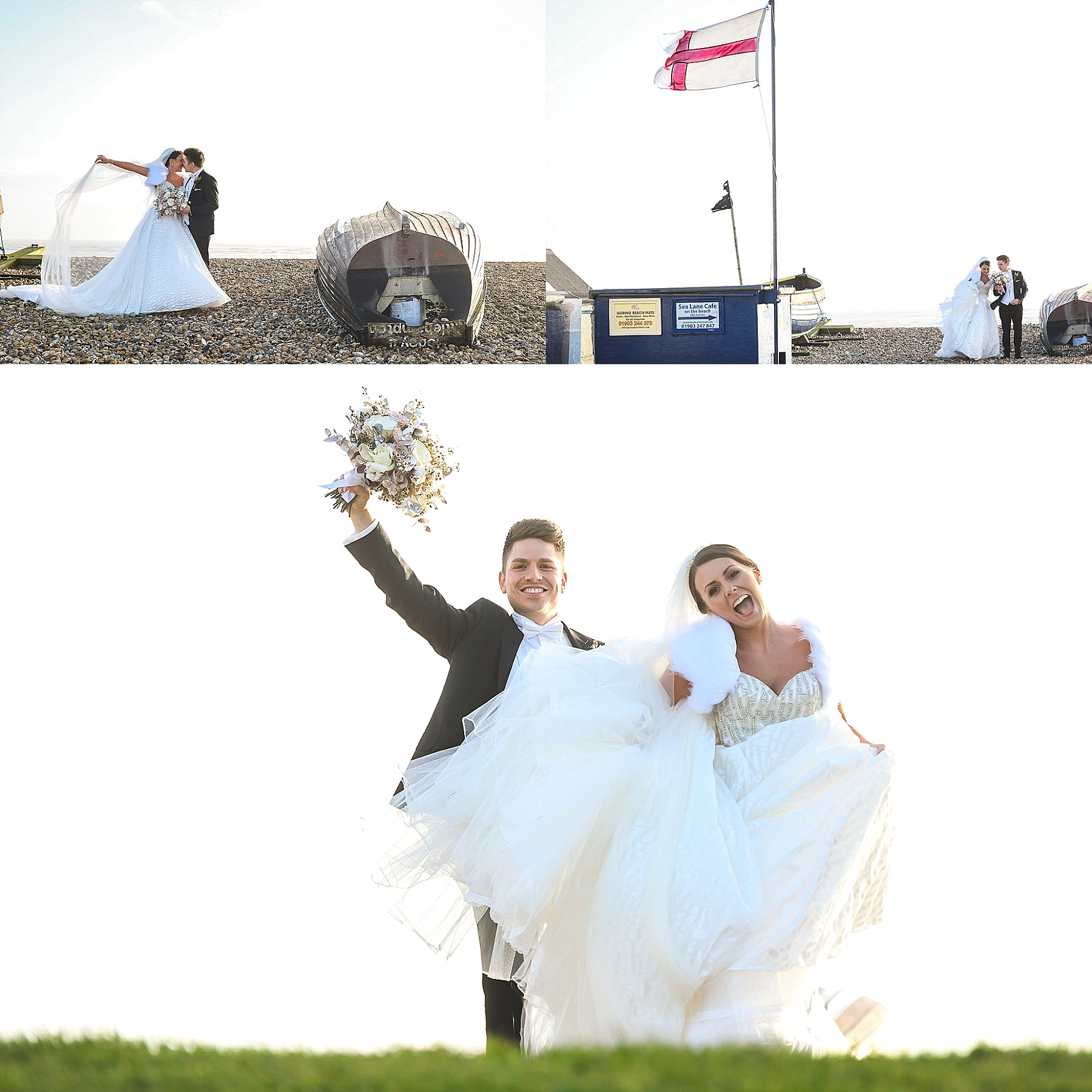 beach wedding in sussex