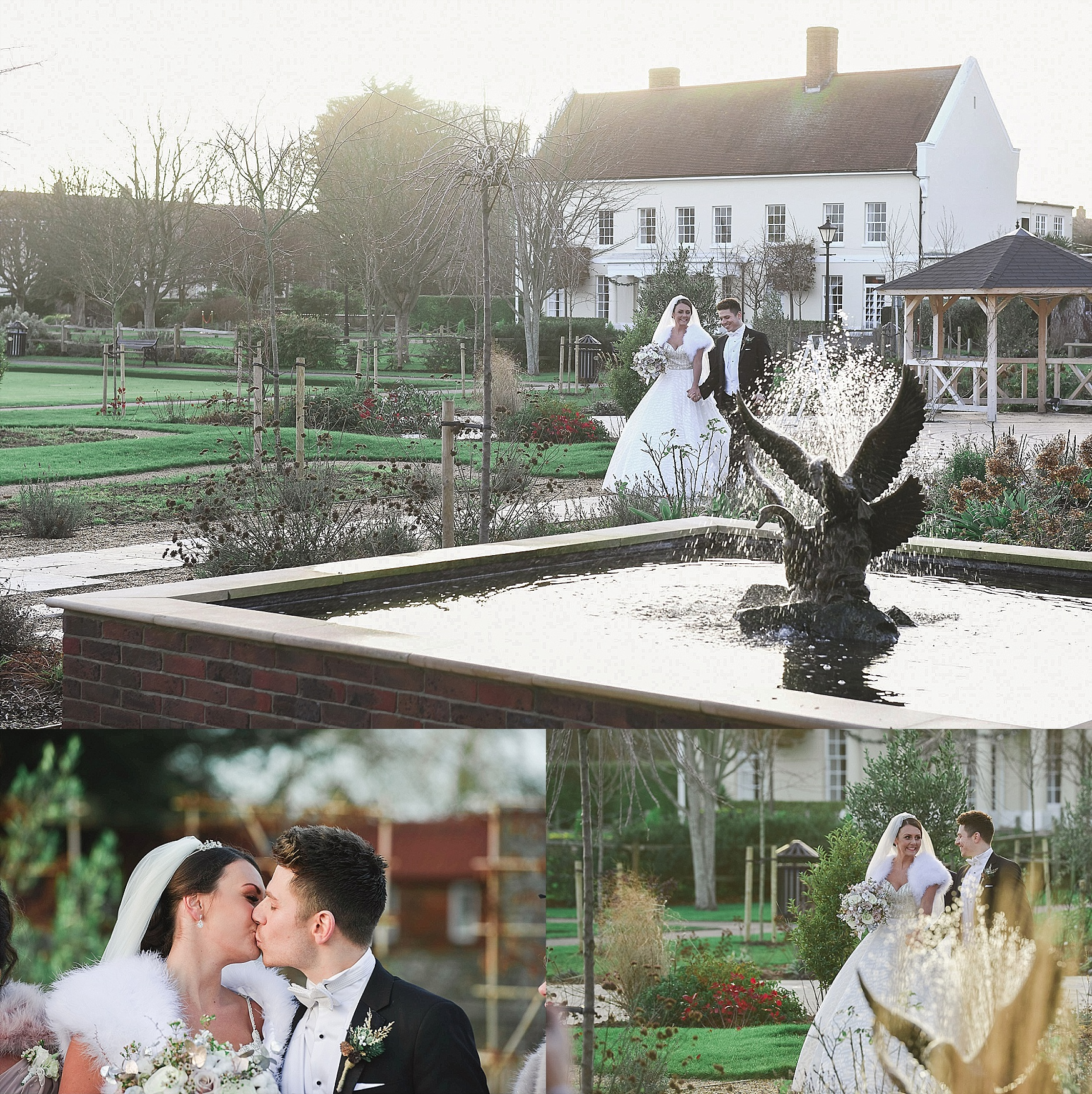 winter wedding at field place