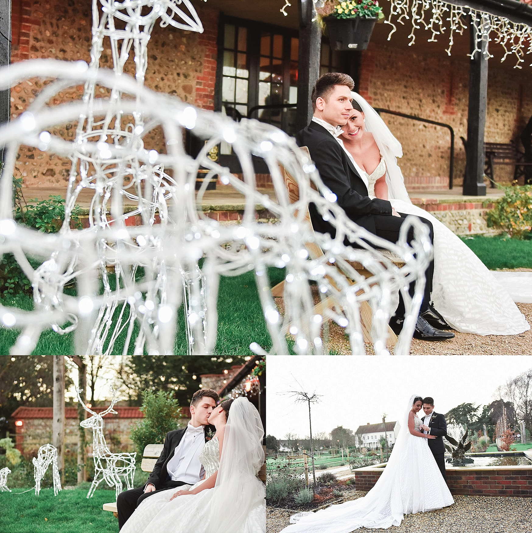 bride and groom romantic portraits by sussex photographer